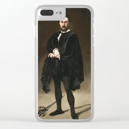 Edouard Manet, The Tragic Actor, 1866 Clear iPhone Case