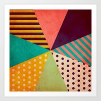 umbrella Art Prints featuring Umbrella by Louise Machado
