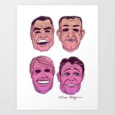 POINT BREAK  - The Ex Presidents Art Print