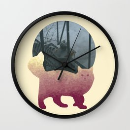 Polygon Cat Wall Clock