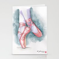 sneaker Stationery Cards featuring ballet sneaker by rchaem
