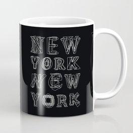 New York black and white Coffee Mug