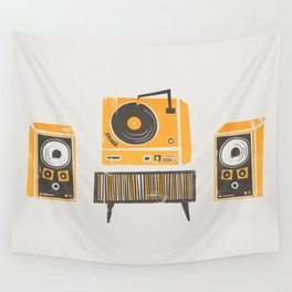 Vinyl Deck And Speakers Wall Tapestry