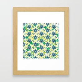 Turquoise Heptica Endless Pattern Framed Art Print