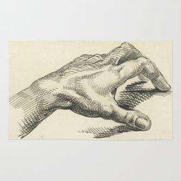 Study of Hand, 1813 - Vintage Anatomical Illustration Rug