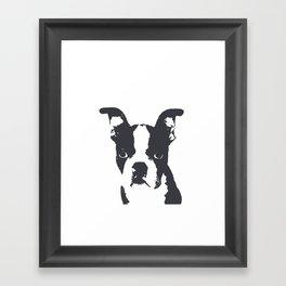 Boston Terrier Pop Art Framed Art Print