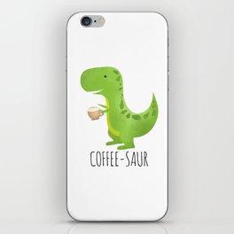 Coffee-saur iPhone Skin