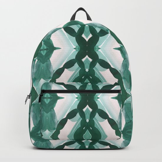 Watercolor Green Tile 1 Backpack