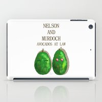 daredevil iPad Cases featuring Daredevil Nelson And Murdoch Avocados At Law by ParallelPenguins