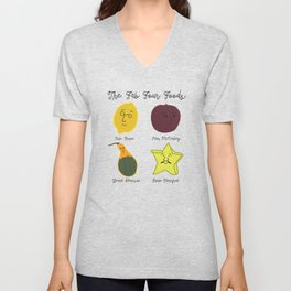 The Fab Four Foods Unisex V-Neck