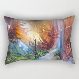 Fantasy Painting Landscape Mystical Rectangular Pillow