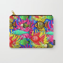 Fish Cute Colorful Doodles Carry-All Pouch