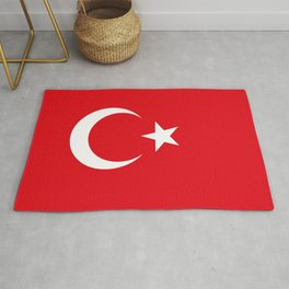 National flag of Turkey, Authentic color & scale Rug