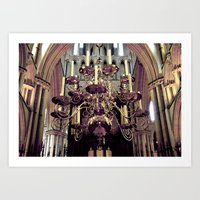 chandelier Art Prints featuring Chandelier  by Jonathan Wright Productions