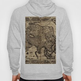 Map Of Asia 1630 Hoody