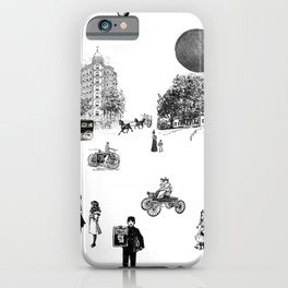 city view from window in 1898 vintage Victorian iPhone Case