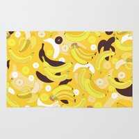 banana Area & Throw Rugs featuring Banana by Ornaart