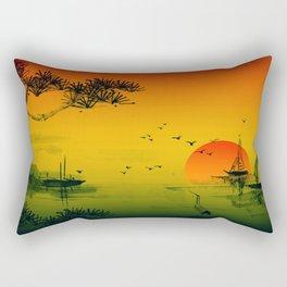 Oriental Sunset Rectangular Pillow