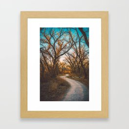 Illuminated New Mexican Trail II Framed Art Print