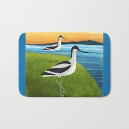 Two Avocets In Suffolk Bath Mat