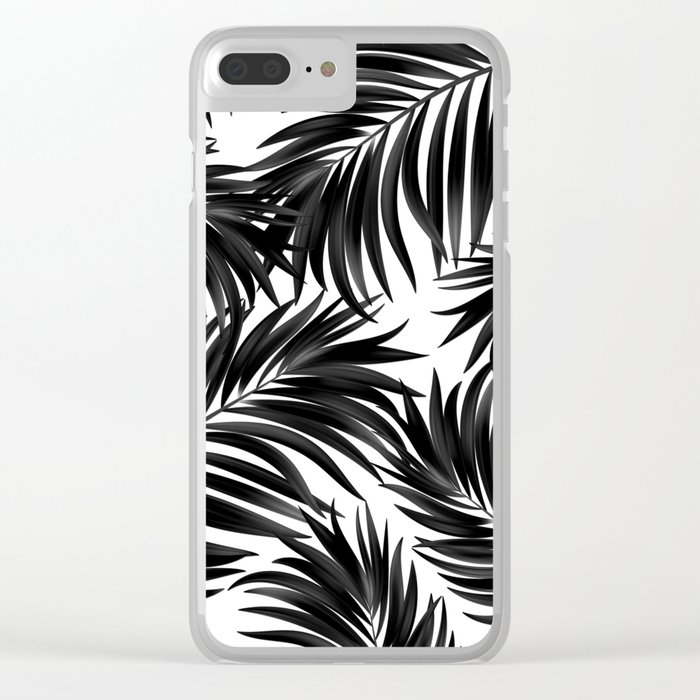 Palm Tree Fronds Black On White Maui Hawaii Tropical Graphic Design