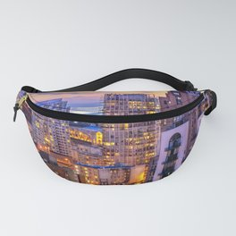 Yaletown Voyeuristic 0361 Vancouver Cityscape View English Bay British Columbia Canada Sunset Travel Fanny Pack