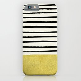 Gold x Stripes iPhone Case