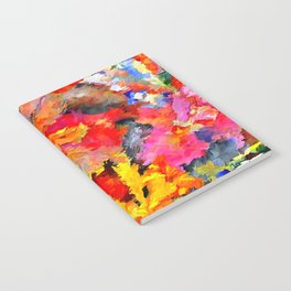 Iris Floral Abstract Notebook