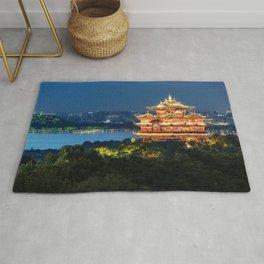 Buddhist temple riverside, China Rug