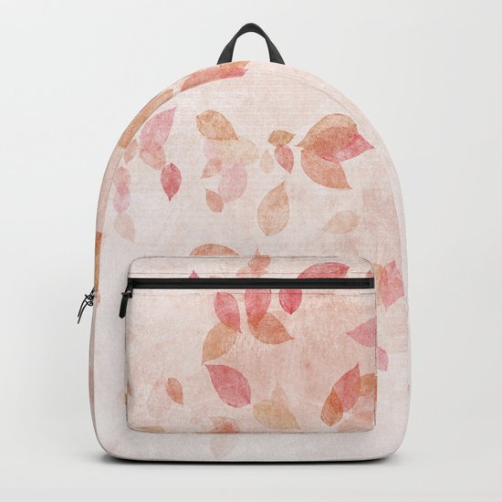My favourite colour: PINK OCTOBER - Indian Summer - Rose Gold autumnal leaves Backpack