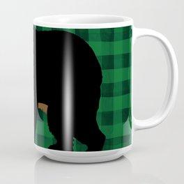 Black Bear - Green Plaid Coffee Mug