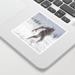 Wounded Wolf Sticker