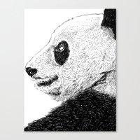 pandas Canvas Prints featuring Pandas by barmalisiRTB