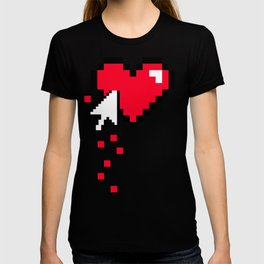 Broken 8 bits Heart T-shirt