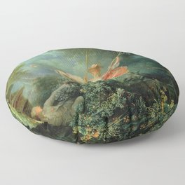 The Swing by Jean-Honoré Fragonard Floor Pillow