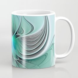 Abstract With Blue 2, Fractal Art Coffee Mug