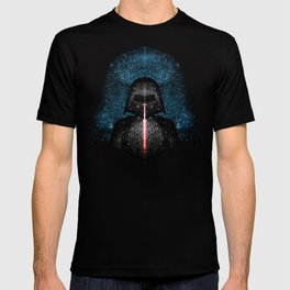 Darth Vader with Lightsaber in Galaxy T-shirt