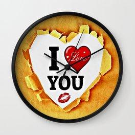 I love you paper Wall Clock