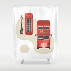 London icon Shower Curtain