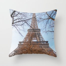 Eiffel Tower in Paris Throw Pillow