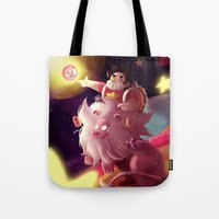 steven universe Tote Bags featuring Steven Universe  by shermstan