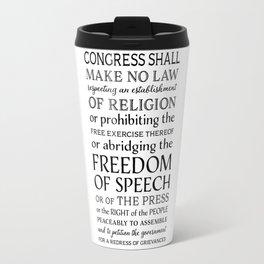 First Amendment Fundamental Freedoms Travel Mug