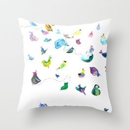 Chickens! Throw Pillow