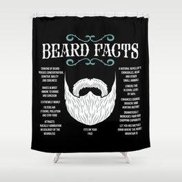 Beard Facts | Facial Hair Shower Curtain
