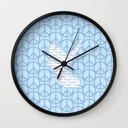 Peace, Freedom. Wall Clock