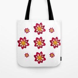 Dahlia Pinwheels Tote Bag