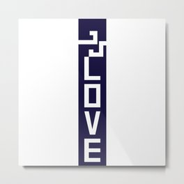 ELOVE - NAVY BLUE Metal Print