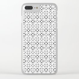 Arrows Pattern Bright Clear iPhone Case