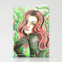 poison ivy Stationery Cards featuring Poison Ivy by Mitch Antonio