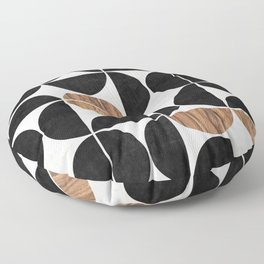 Mid-Century Modern Pattern No.1 - Concrete and Wood Floor Pillow